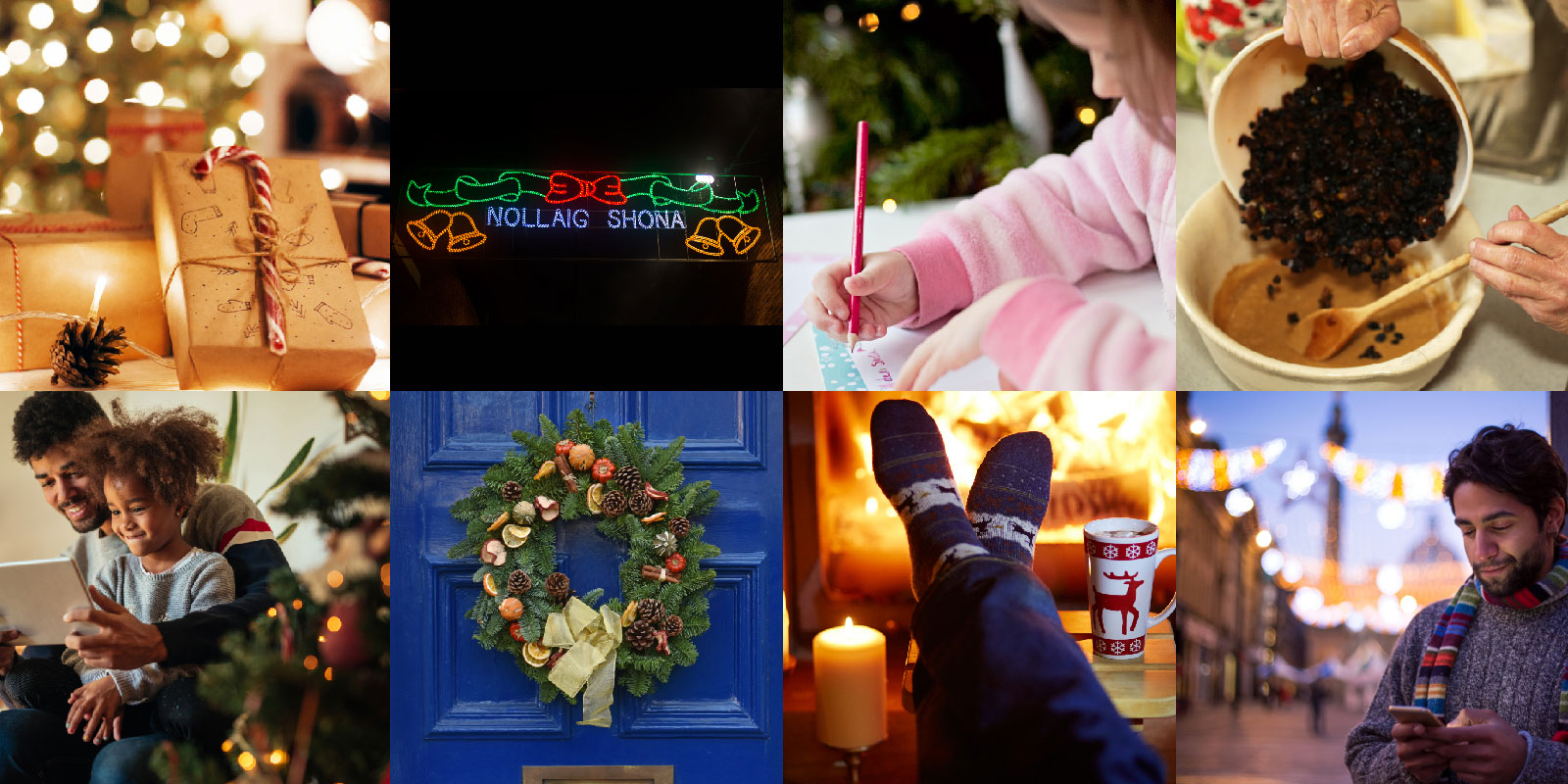 collage of christmas in ireland